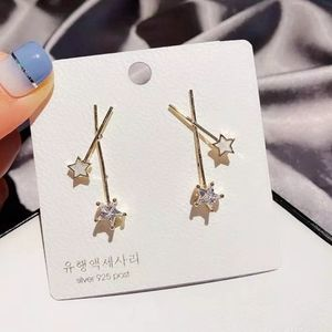 NEW Gold Double Star Fairy Wand Earrings